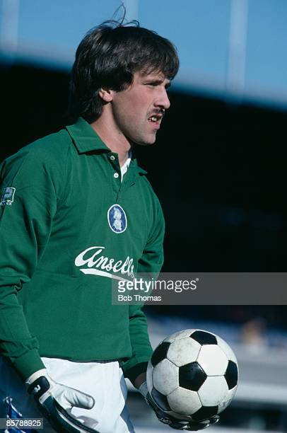 Birmingham City goalkeeper David Seaman in action against Oxford United at St Andrews 27th October 1984