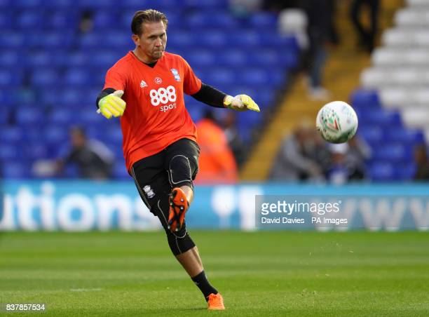 Birmingham City goalkeeper Tomasz Kuszczak warms up before the game