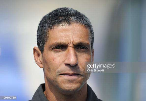Birmingham City manager Chris Hughton looks on during the pre season friendly between Birmingham City and Everton at St Andrews on July 30 2011 in...