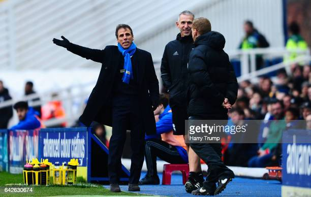 Birmingham City Manager Gianfranco Zola reacts during the Sky Bet Championship match between Birmingham City and Queens Park Rangers at St Andrews...