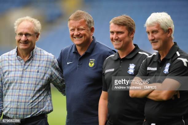 Birmingham City manager Lee Clark assistant manager Terry McDermott and Oxford United manager Chris Wilder