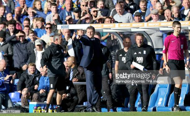 Birmingham City manager Steve Cotterill gestures on the touchline during the Sky Bet Championship match at St Andrew's Birmingham