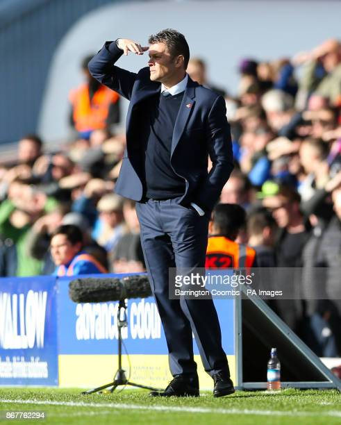 Birmingham City manager Steve Cotterill looks on during the Sky Bet Championship match at St Andrew's Birmingham