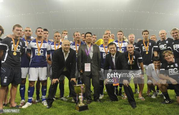 Birmingham City pose for a photo after the 2010/11 preseason friendly match between Liaoning Hongyun and Birmingham City at Wukesong Stadium on July...