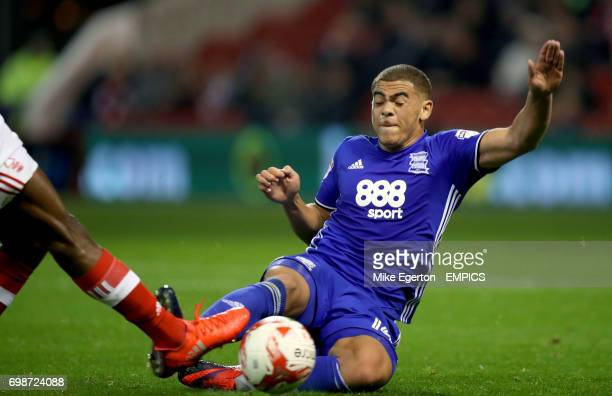 Birmingham City's Che Adams in action