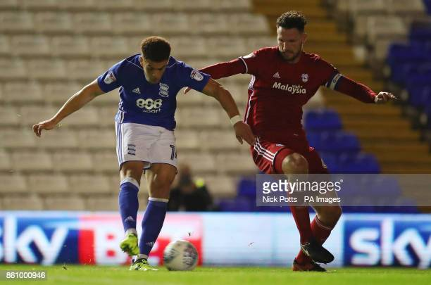 Birmingham City's Che Adams scores his side's first goal of the game during the Sky Bet Championship match St Andrew's Birmingham