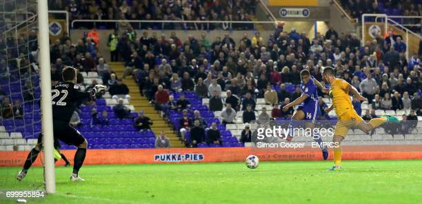 Birmingham City's Che Adams scores his side's second goal of the game