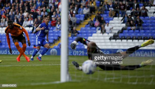 Birmingham City's Che Adams scores their first goal