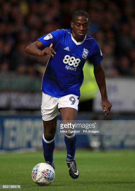 Birmingham City's Clayton Donaldson during the Sky Bet Championship match at the Pirelli Stadium Burton