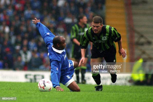 Birmingham City's Danny Wallace and Plymouth Argyle's Dominic Naylor battle for the ball