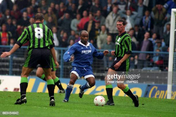 Birmingham City's Danny Wallace in action Also picture for Plymouth Argyle is Andy Comyn