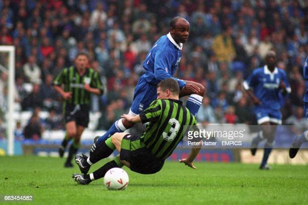 Birmingham City's Danny Wallace skips over the challenge from Plymouth Argyle's Dominic Naylor