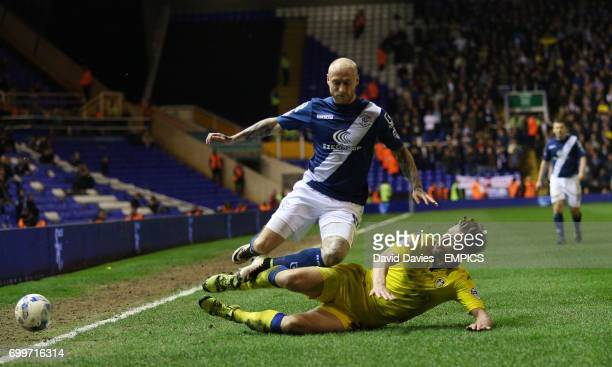 Birmingham City's David Cotterill and Leeds United's Charlie Taylor