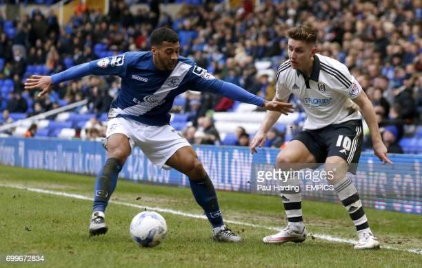 Birmingham City's David Davis and Fulham's Tom Cairney