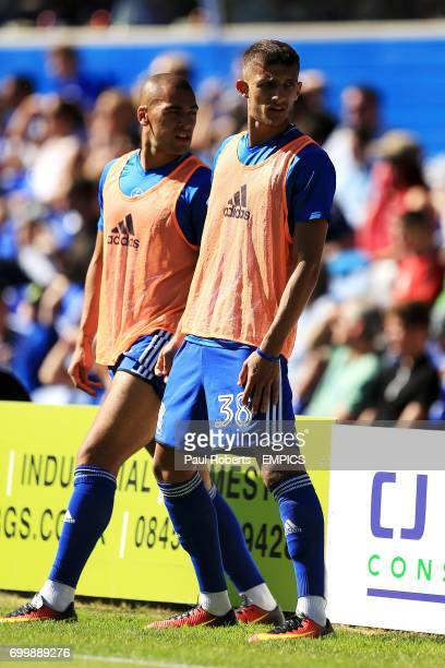 Birmingham City's Jack Storer and James Vaughan
