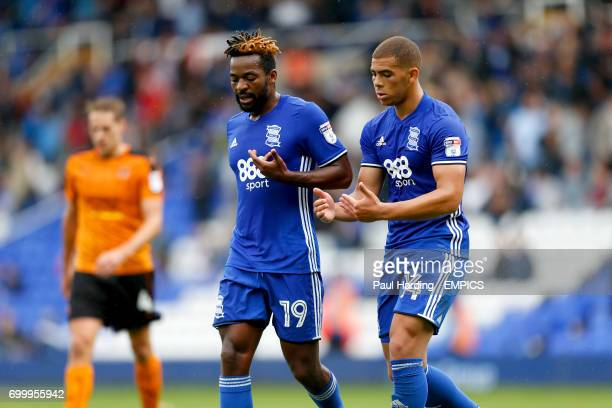 Birmingham City's Jacques Maghoma and Che Adams