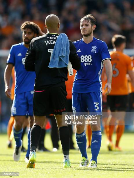 Birmingham City's Jonathan Grounds shakes hands with Wolverhampton Wanderers goalkeeper Carl Ikeme after the final whistle