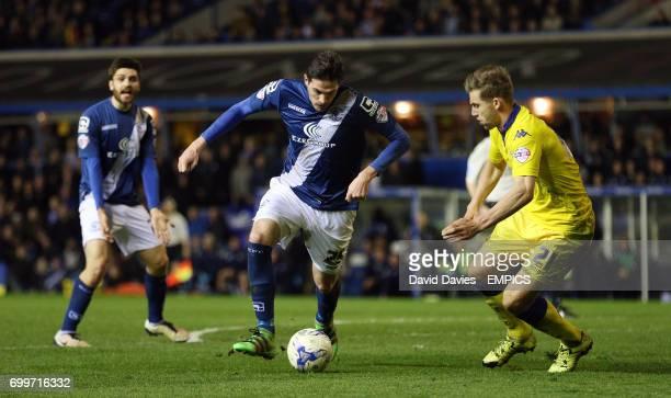 Birmingham City's Kyle Lafferty and Leeds United's Charlie Taylor