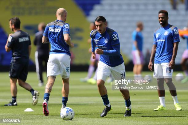 Birmingham City's Lee Novak during the warm up