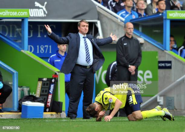 Birmingham City's manager Lee Clark complains about challenge on Jonathan Spector during the game