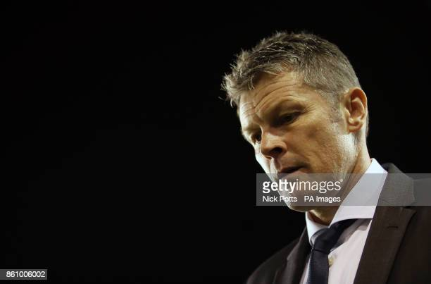 Birmingham City's manager Steve Cotterill during the Sky Bet Championship match St Andrew's Birmingham