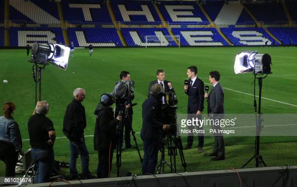 Birmingham City's manager Steve Cotterill is interviewed after the Sky Bet Championship match St Andrew's Birmingham