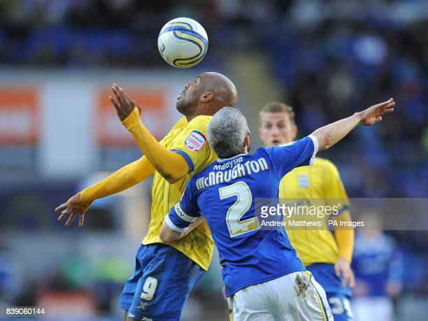 Birmingham City's Marlon King and Cardiff City's Kevin McNaughton in action