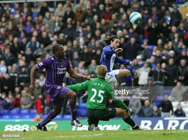 Birmingham City's Mauro Zarate scores his sides first goal of the match