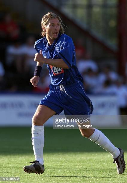 Birmingham City's new signing Robbie Savage in action against Exeter City in tonight's pre season friendly at St James' Park Exeter 04/11/03...