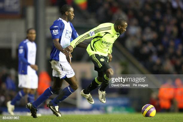 Birmingham City's Olivier Kapo and Chelsea's Claude Makelele battle for the ball