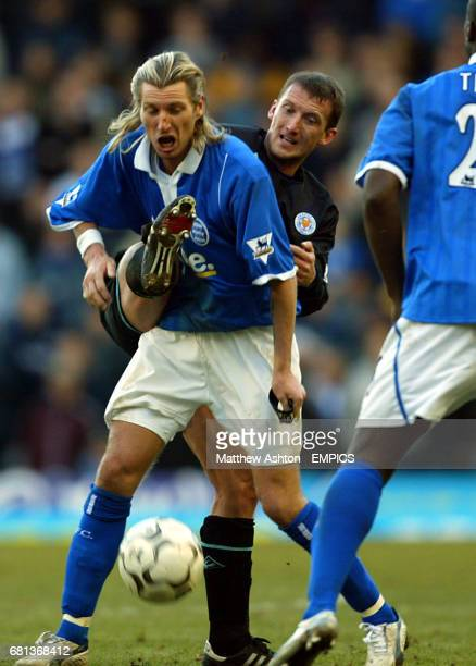 Birmingham City's Robbie Savage and Leicester City's Billy McKinlay