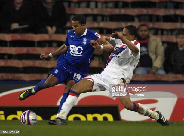 Birmingham City's Scott Sinclair and Crystal Palace's Nathanial Clyne battle for the ball during the CocaCola Championship match at Selhurst Park...