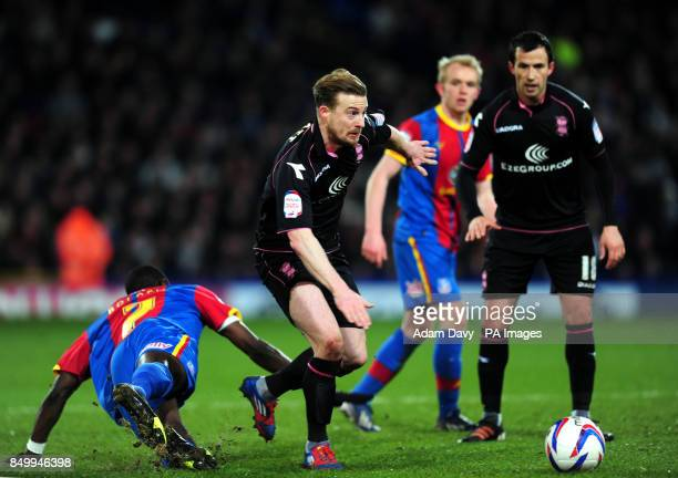 Birmingham City's Wade Elliott gets away from Crystal Palace's Yannick Bolasie during the npower Championship match at Selhurst Park London