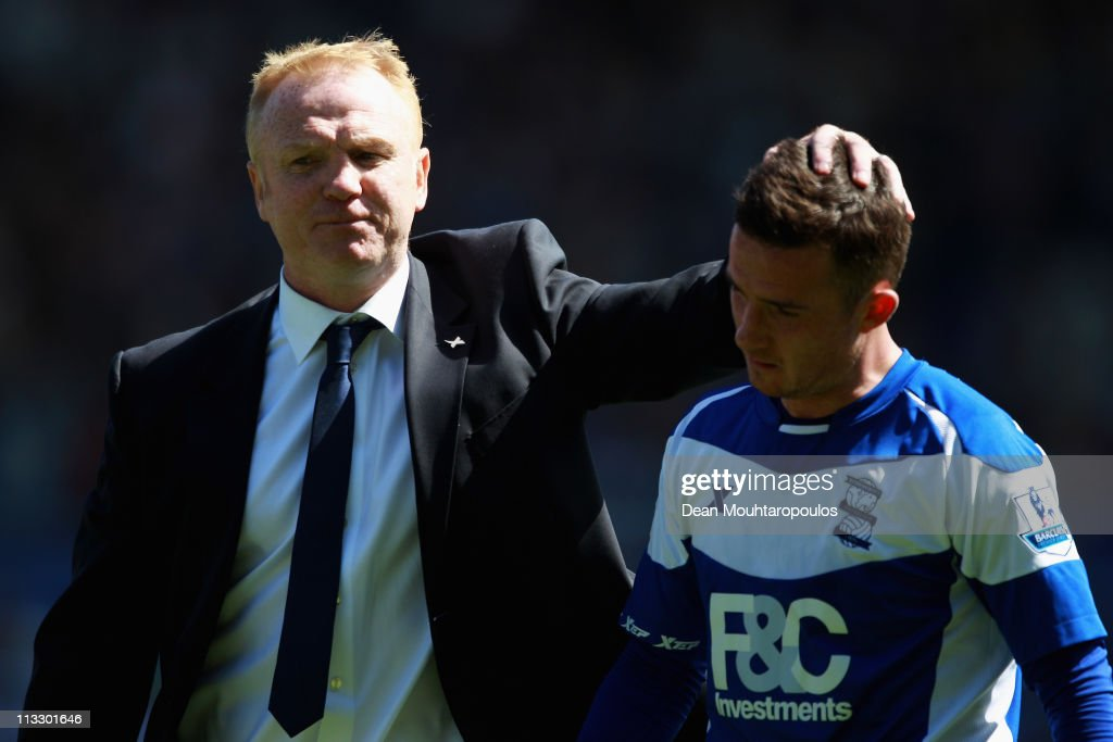 Birmingham Manager Alex McLeish congratulates Barry Ferguson after the Barclays Premier League match between Birmingham City and Wolverhampton...