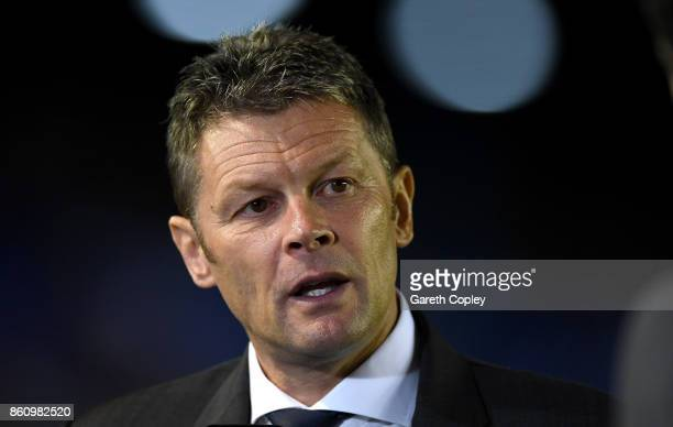 Birmingham manager Steve Cotterill ahead of the Sky Bet Championship match between Birmingham City and Cardiff City at St Andrews on October 13 2017...