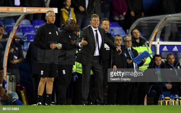 Birmingham manager Steve Cotterill shouts from the touchline during the Sky Bet Championship match between Birmingham City and Cardiff City at St...