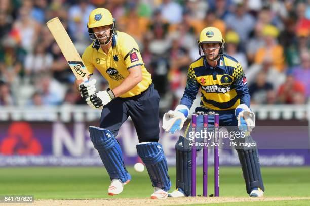 Birmingham's Colin de Grandhomme bats during the NatWest T20 Blast Finals Day at Edgbaston Birmingham