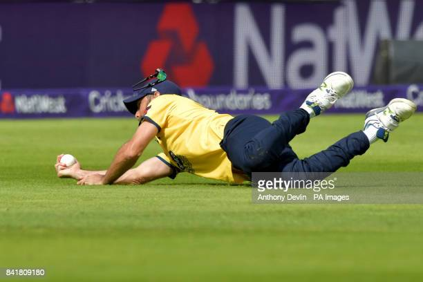 Birmingham's Grant Elliott takes the catch of Glamorgan's Colin Ingram during the NatWest T20 Blast Finals Day at Edgbaston Birmingham