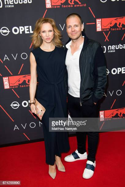 Birte Glang and DJ Moguai attend the New Faces Award Film at Haus Ungarn on April 27 2017 in Berlin Germany