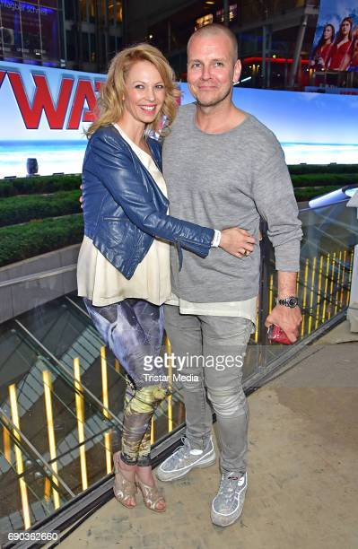 Birte Glang and DJ Moguai during the Baywatch European Premiere Party on May 31 2017 in Berlin Germany