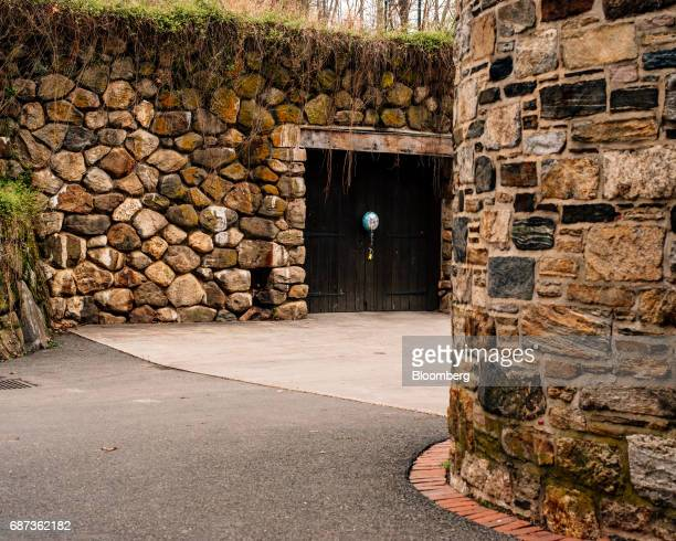 A birthday balloon is seen on the wine cellar of the Blue Hill at Stone Barns restaurant in Pocantico Hills New York US on Friday April 21 2017 As...