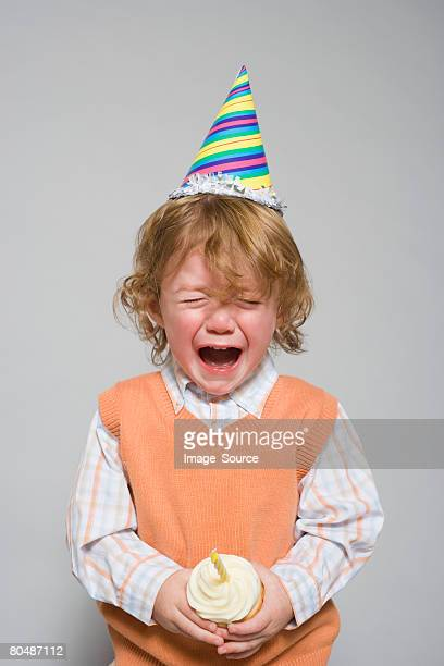 Birthday boy having a tantrum