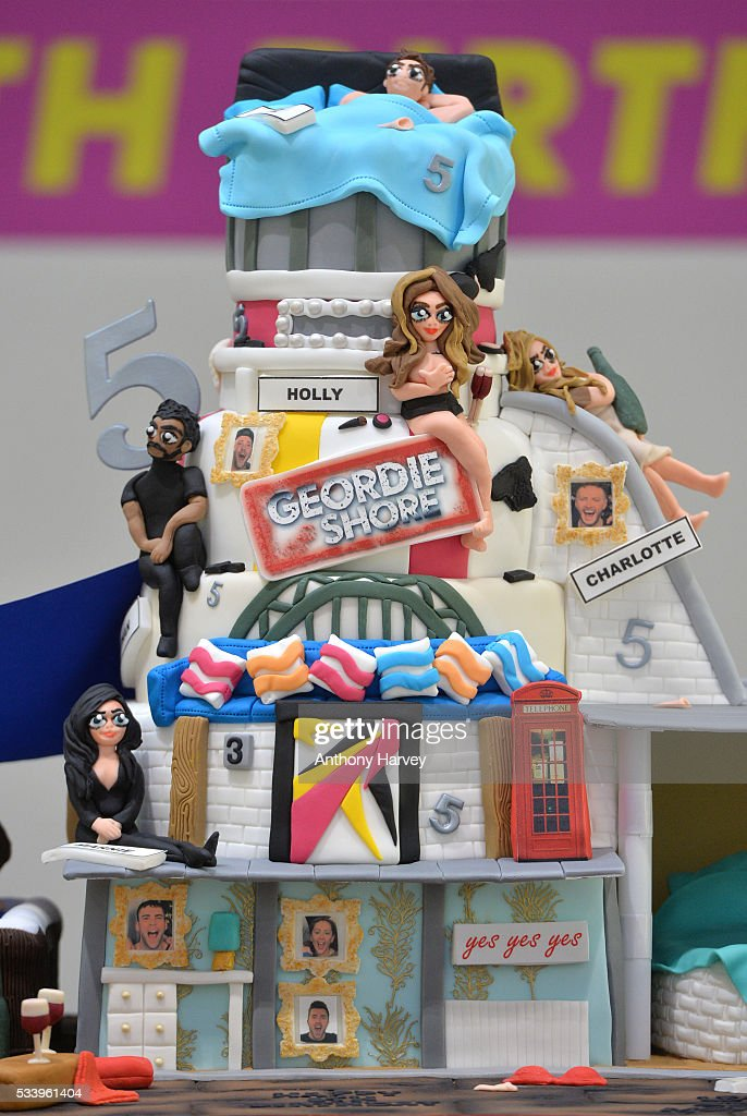 Birthday Cake for the Geordie Shore Cast to celebrate their fifth birthday at MTV London on May 24, 2016 in London, England.