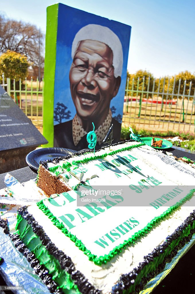 A birthday cake marking Madiba's 94th birthday as part of Nelson Mandela Day celebrations on July 18, 2012 in Soweto, South Africa. Tributes from all over South Africa are celebrating Mandela's 94th Birthday on July 18.