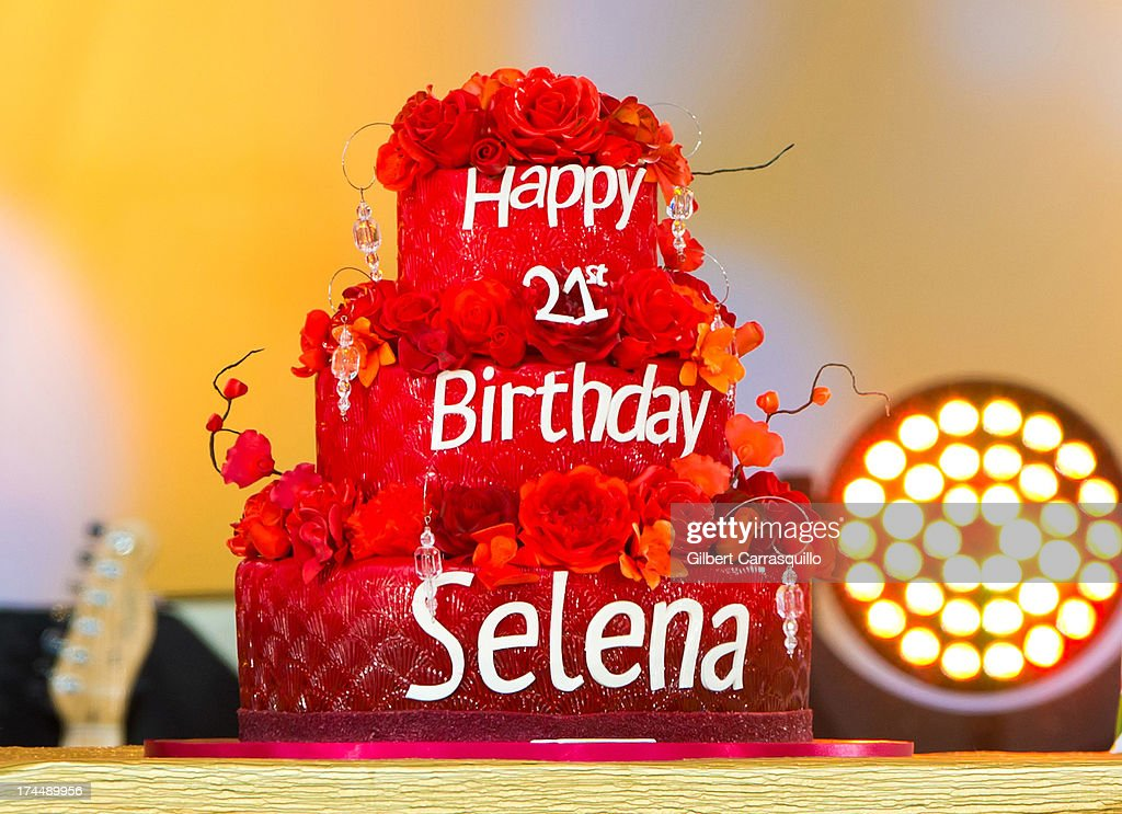 A Birthday cake presented by ABC's Good Morning America to Selena Gomez in celebration of her 21st birthday, which was on July 22, during Selena Gomez performance during ABC's 'Good Morning America' at Rumsey Playfield on July 26, 2013 in New York City.