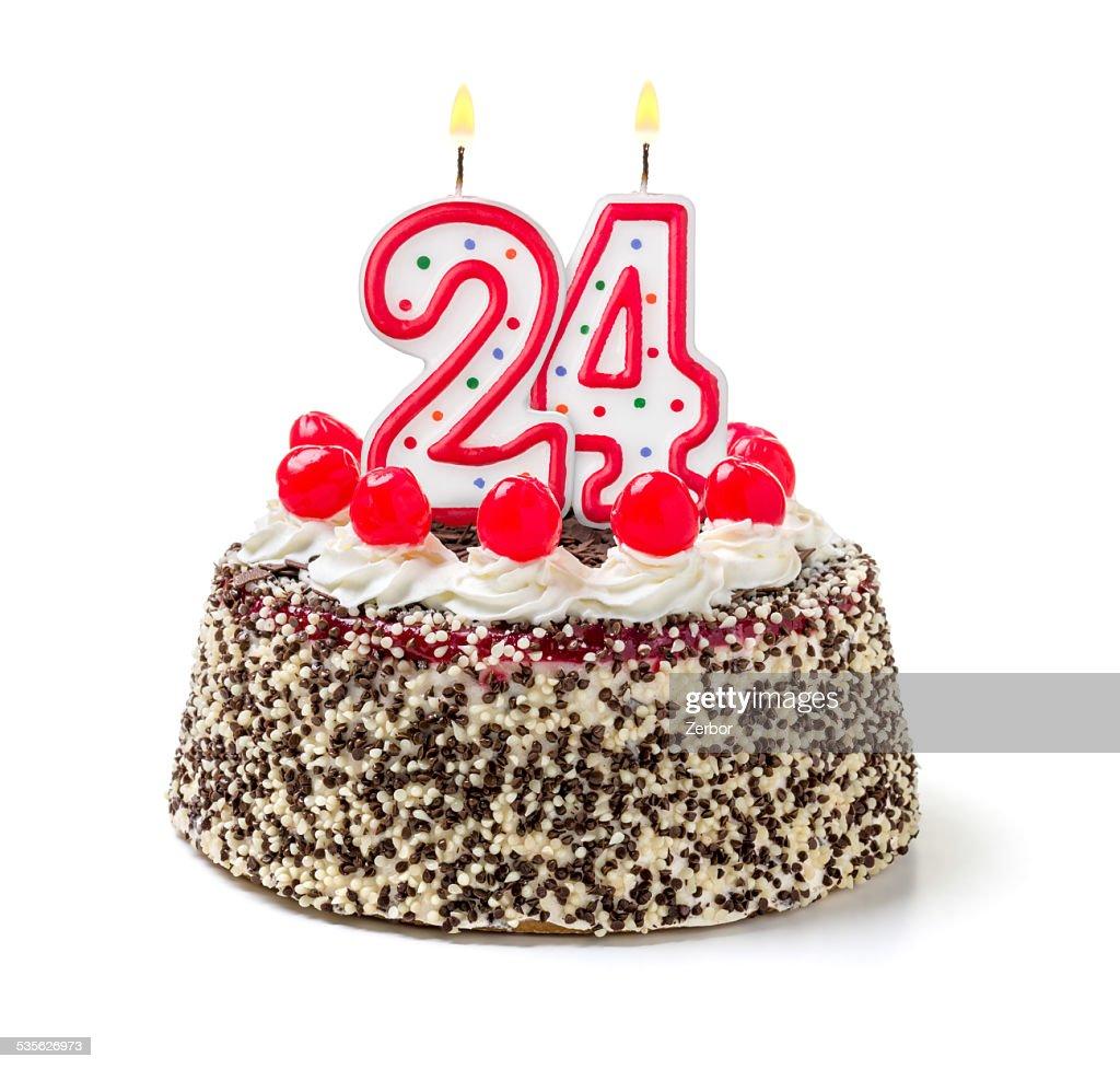 Image gateau d'anniversaire 24 ans