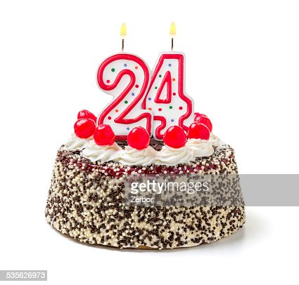 http://media.gettyimages.com/photos/birthday-cake-with-burning-candle-number-24-picture-id535626973?s=170667a&w=1007