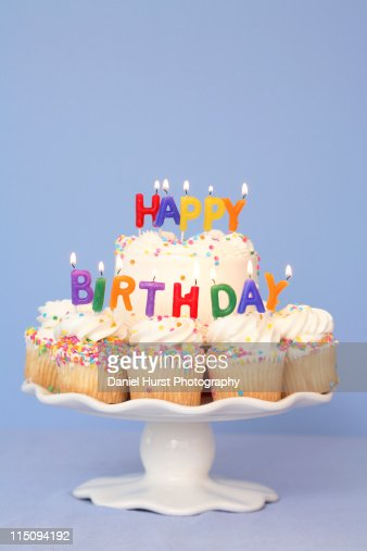Birthday Cake Images With Candles Free : Birthday Cake With Happy Birthday Candles Stock Photo ...