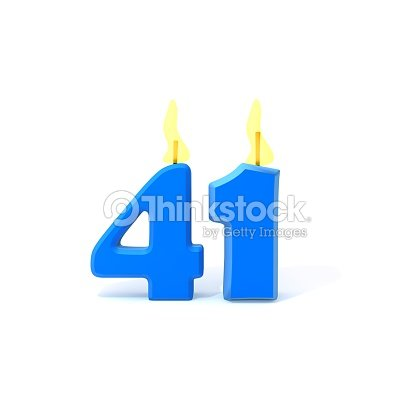 Birthday Candles Number Forty One Stock Photo