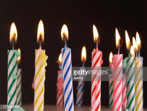 Birthday Candles : Stock Photo